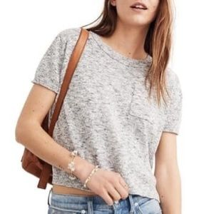 Madewell Marled cotton knit tee sweater S